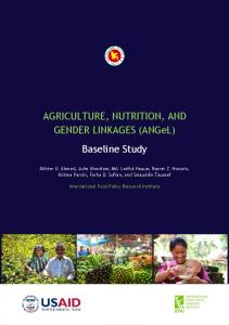 AGRICULTURE, NUTRITION, AND GENDER ...