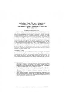 Agriculture Under Threat - SSRN papers
