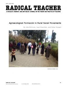 Agroecological Formación in Rural Social Movements - People's ...