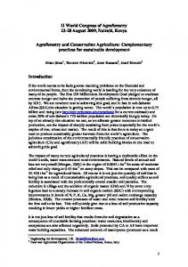 Agroforestry and Conservation Agriculture - Food and Agriculture ...
