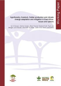 Agroforestry, livestock, fodder production and climate change ...