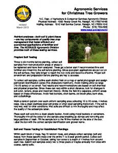 Agronomic Services for Christmas Tree Growers