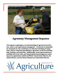 Agronomy Management Sequence