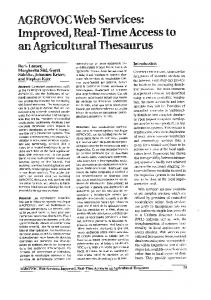 AGROVOC Web Services - Food and Agriculture Organization of the ...