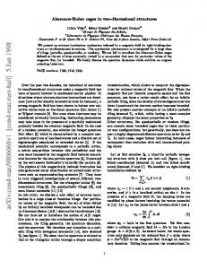 Aharonov-Bohm cages in two-dimensional structures