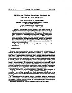 AHBP: An Efficient Broadcast Protocol for Mobile Ad Hoc Networks
