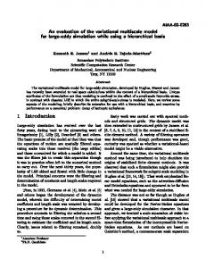 AIAA-02-0283 An evaluation of the variational multiscale model for ...