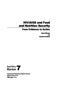 AIDS and Food and Nutrition Security : From