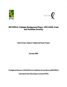 AIDS, Food and Nutrition Security