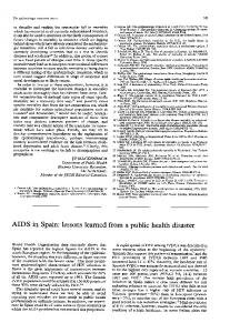 AIDS in Spain: lessons learned from a public health disaster