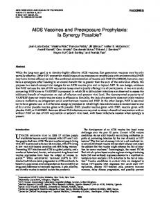 AIDS Vaccines and Preexposure Prophylaxis - Mary Ann Liebert, Inc.