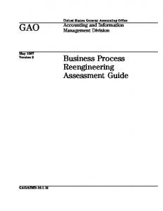 AIMD-10.1.15 Business Process Reengineering Assessment Guide ...