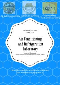 Air Conditioning and Refrigeration Laboratory