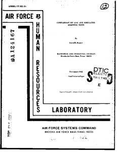 air force lhmnreures laboratory