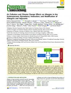 Air Pollution and Climate Change Effects on