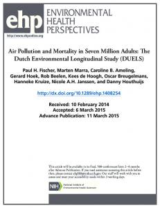Air Pollution and Mortality in Seven Million Adults: The Dutch ...