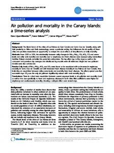 Air pollution and mortality in the Canary Islands: a ... - BioMedSearch