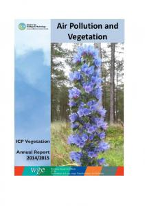 Air Pollution and Vegetation