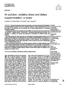 Air pollution, oxidative stress and dietary supplementation: a ... - PRBB