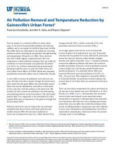 Air Pollution Removal and Temperature Reduction by ...