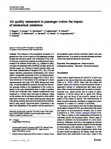 Air quality assessment in passenger trains: the impact