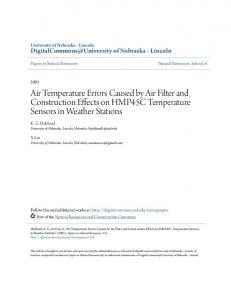 Air Temperature Errors Caused by Air Filter and Construction Effects ...