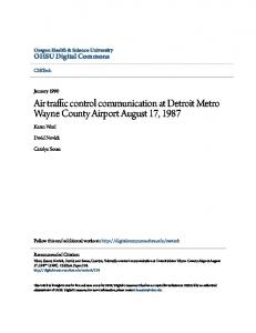 Air traffic control communication at Detroit Metro Wayne County Airport ...