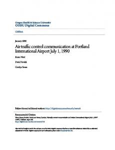 Air traffic control communication at Portland International Airport July 1 ...