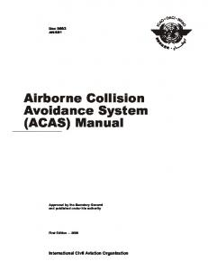 Airborne Collision Avoidance System (ACAS) Manual - ICAO