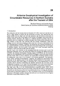 Airborne Geophysical Investigation of Groundwater Resources in ...