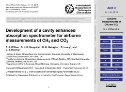 Airborne measurements of CH4 and CO2