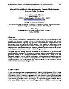 Aircraft Engine Health Monitoring using Density Modelling and ...