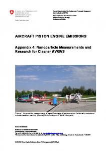 aircraft piston engine emissions