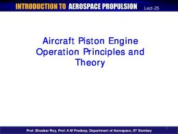 Aircraft Piston Engine Operation Principles and Theory - nptel