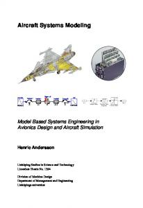 Aircraft Systems Modeling Model Based Systems