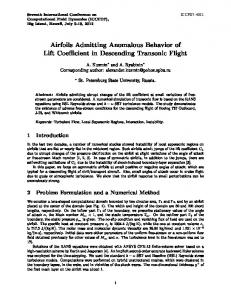 Airfoils Admitting Anomalous Behavior of Lift Coe cient in ...