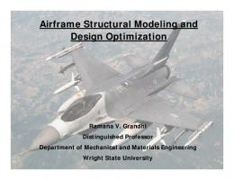 Airframe Structural Modeling and Design Optimization