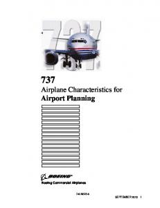 Airplane Characteristics for Airport Planning