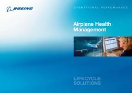 Airplane Health Management - The Boeing Company