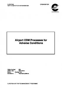 Airport CDM Processes for Adverse Conditions