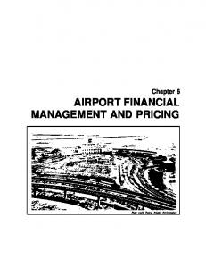 airport financial management and pricing