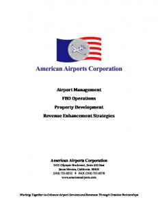 Airport Management FBO Operations Property Development ...