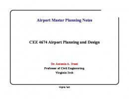 Airport Master Planning Notes CEE 4674 Airport Planning and Design