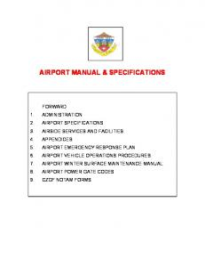 Airport Operations Manual - City of Grand Forks