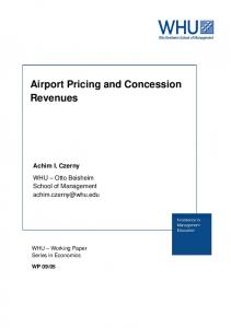 Airport Pricing and Concession Revenues - OPUS 4