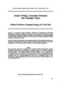Airport Pricing, Concession Revenues and Passenger Types