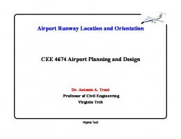 Airport Runway Location and Orientation CEE 4674Airport Planning ...