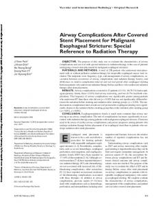 Airway Complications After Covered Stent Placement ...