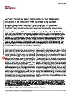Airway epithelial gene expression in the diagnostic evaluation of ...