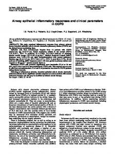 Airway epithelial inflammatory responses and clinical ... - CiteSeerX